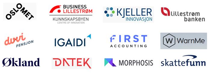 Samling av logoer til samarbeidspartnere
